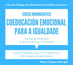 Curso monográfico Coeducación emocional para a igualdade